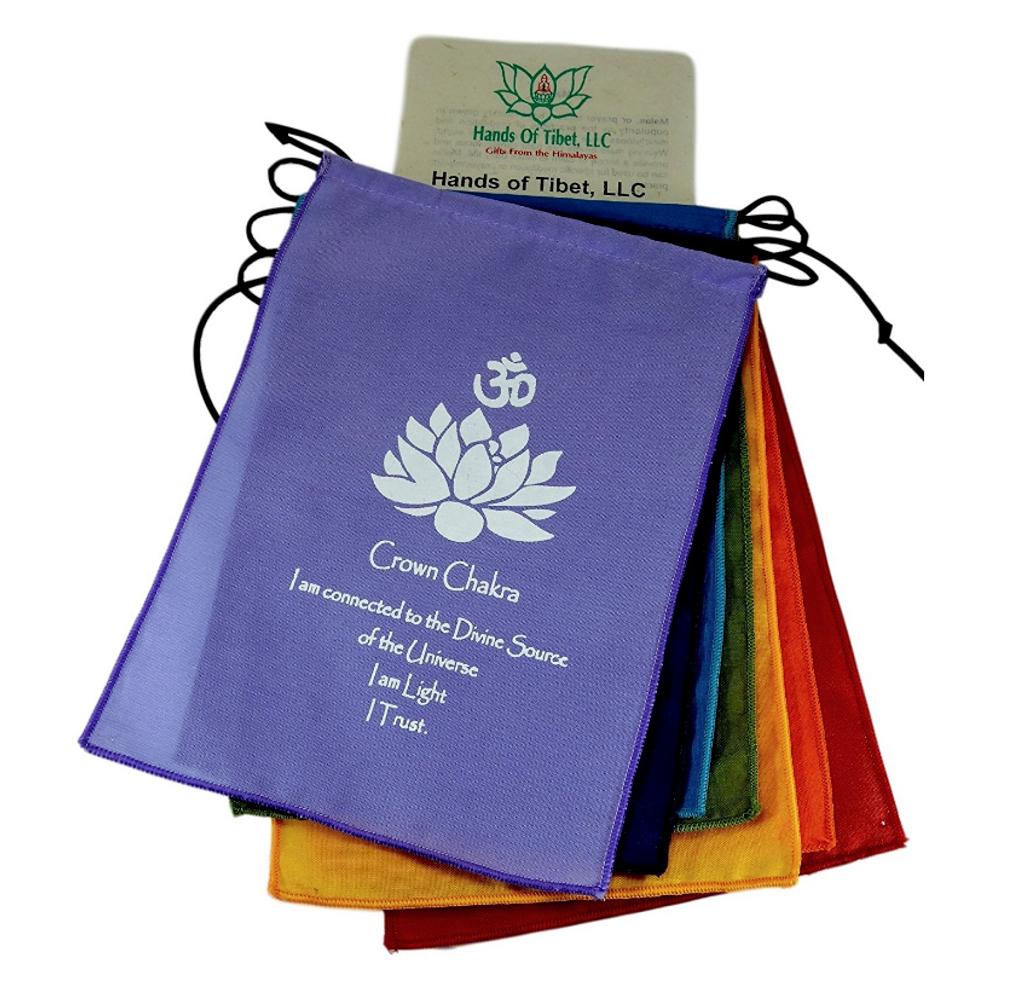 Small Seven Chakra Prayer Flags
