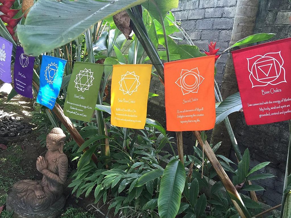 Large Seven Chakra Prayer Flags