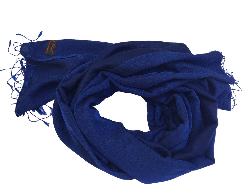 Handmade Pashmina Water Shawl from Nepal many colors (Blue )