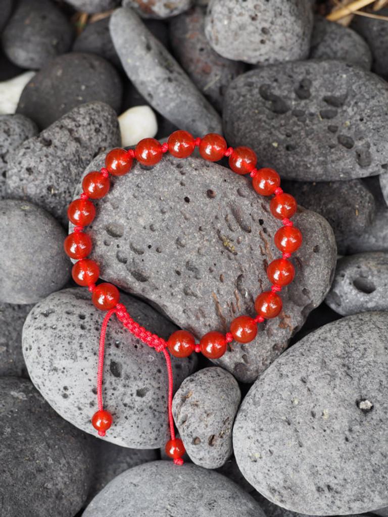 Handmade individually knotted Calming wrist mala yoga bracelet