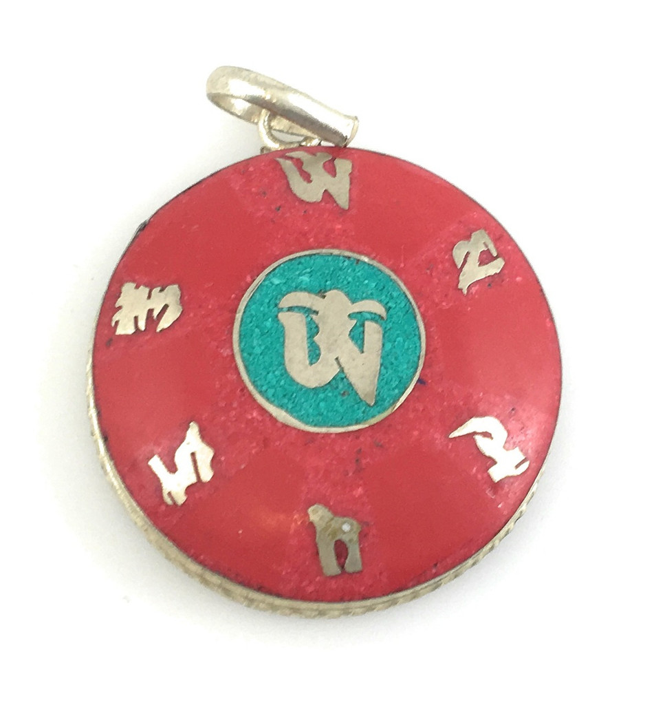 Compassionate Turquoise and coral pendant