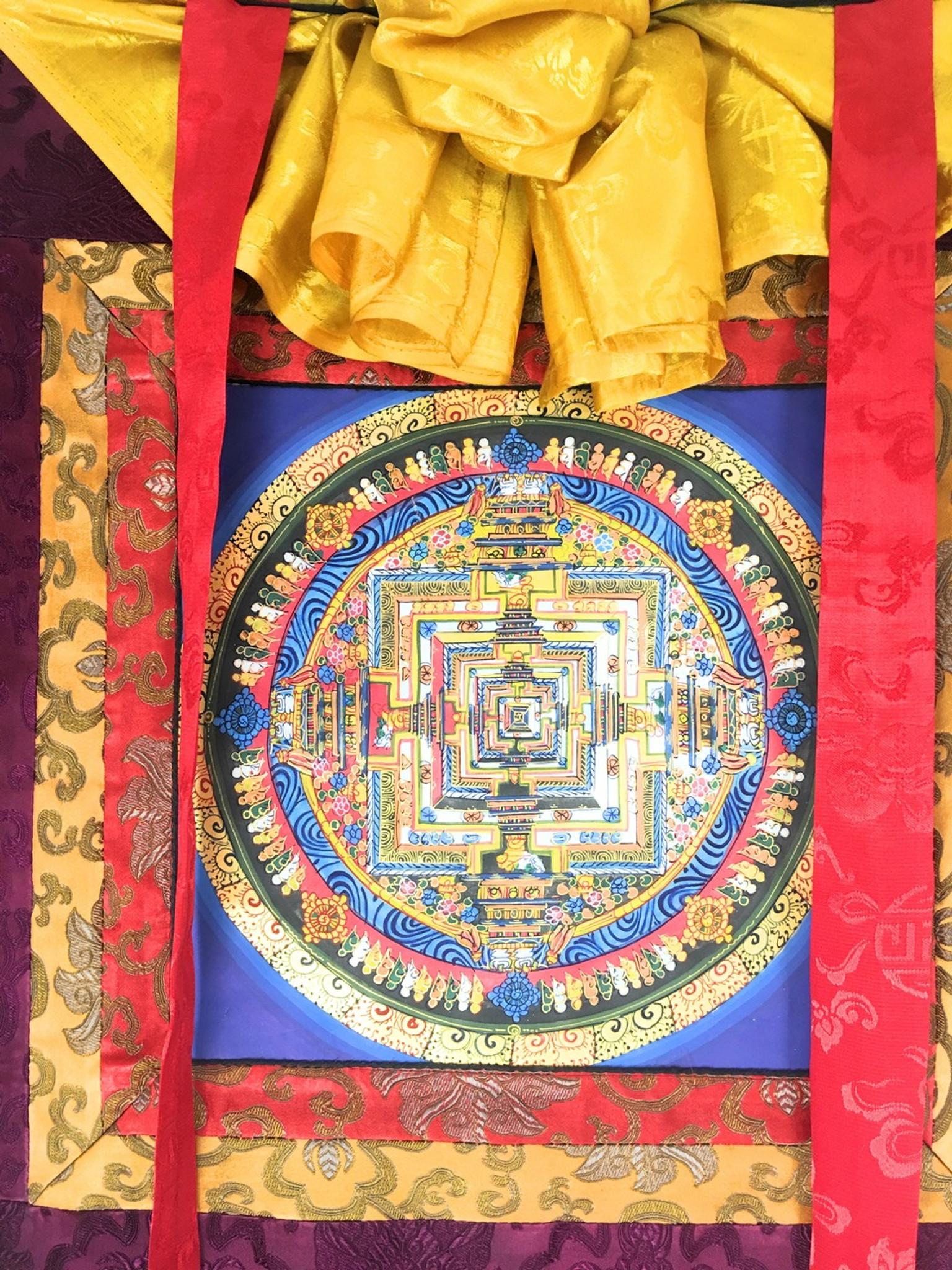 Traditional Tibetan Kalachakra Mandala Thangka Painting - Hands Of ...