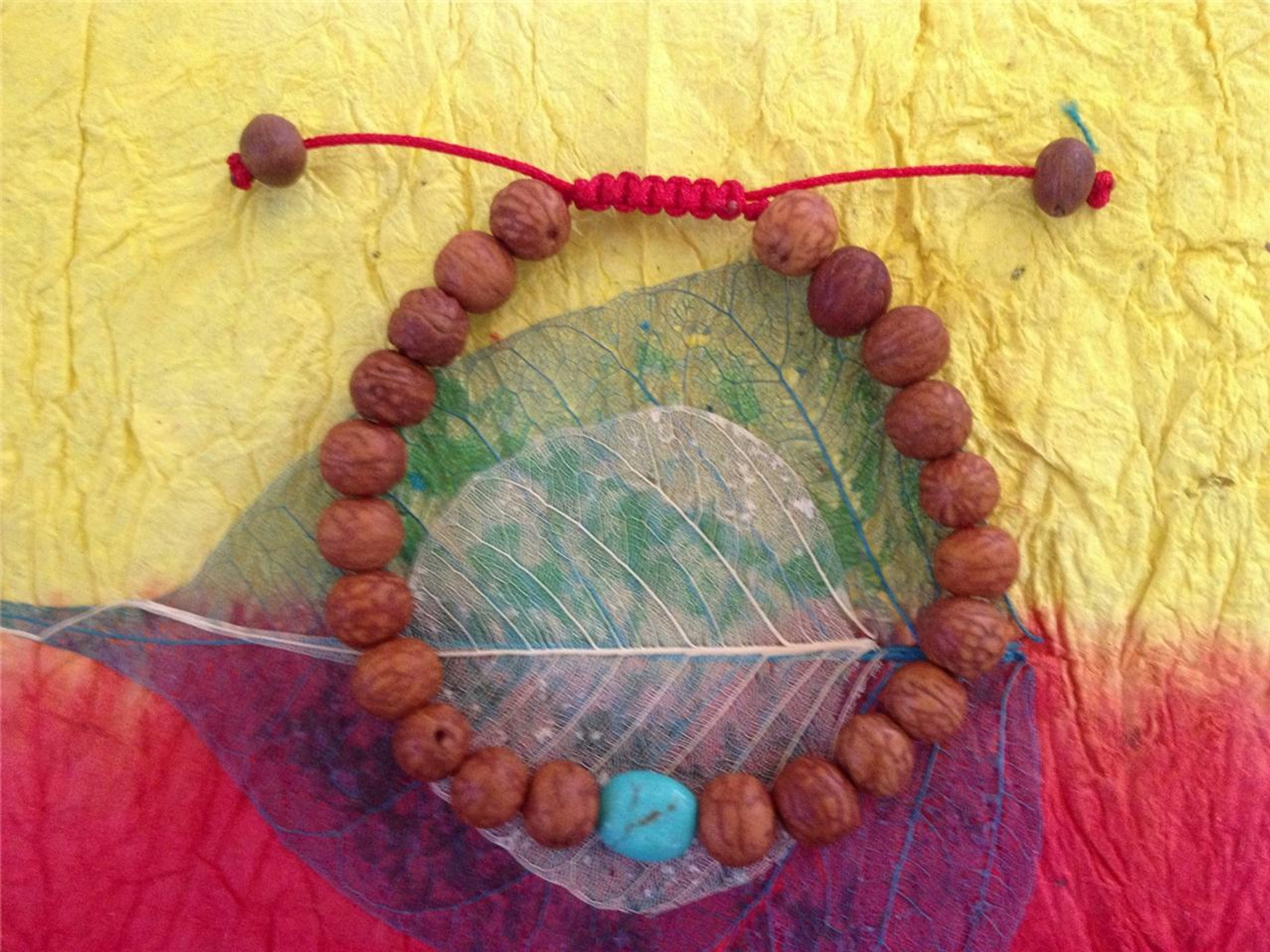 Tibetan Mala Raktu Seed Wrist Mala Bracelet With