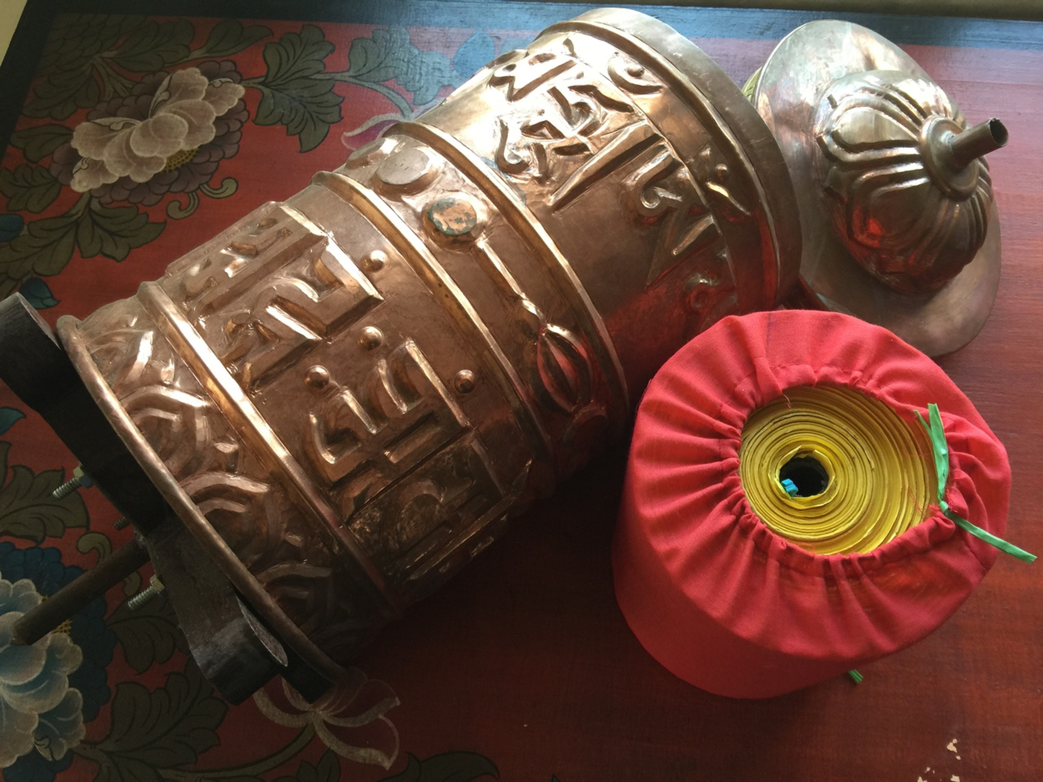 Extra Large Temple Style Prayer Wheel Hands Of Tibet Llc