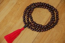 Rosewood mala with red Tassel