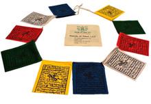 Mini Wind Horse Tibetan Prayer Flags From Nepal (Set of 10 Flags)