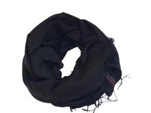 Handmade Pashmina Water Shawl from Nepal many colors (Black)