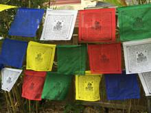 Extra Large White Tara Tibetan Prayer flags 27 feet long