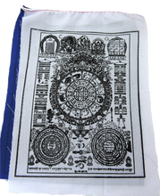 Wheel of Astrology prayer flags for positive energy