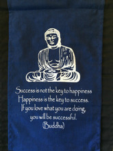 Handmade Buddha Success Inspirational Yoga Banner