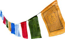 "Small Green Tara Tibetan Prayer Flags with English Translation (6""X8"")"