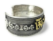 Extra large solid Sterling Silver Compassionate Bracelet