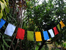 High Quality Blank prayer flags set of 10 flags surged edge