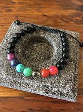 Seven Chakra Protection Wrist Mala Bracelet