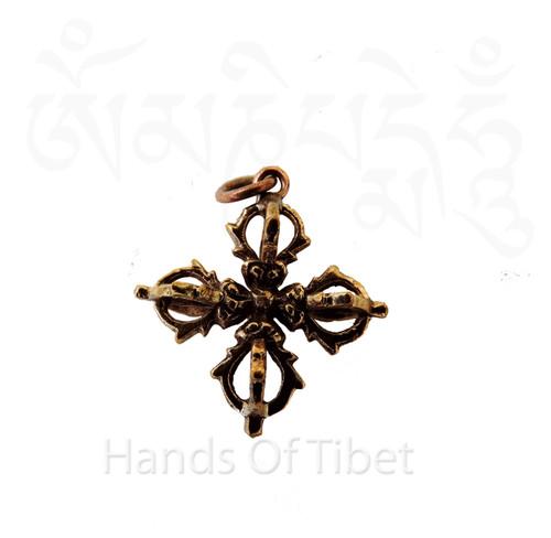 Copper Double Dorje pendant