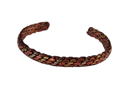Handmade Braided Three Metal Medicine Bracelet