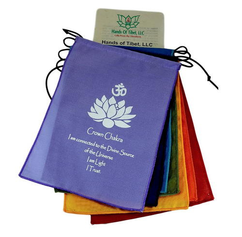 Small Seven Chakra Prayer Flags