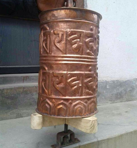 Extra Large Temple Style Prayer wheel