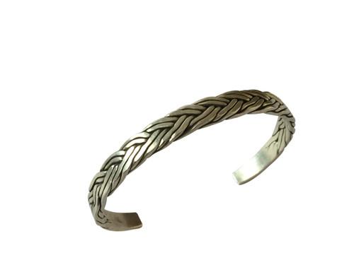 Handmade Twisted Sterling Silver Bracelet