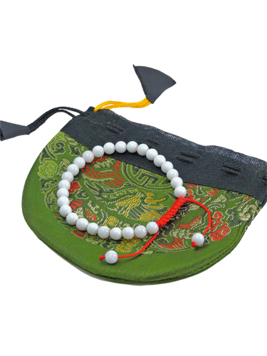 Small Conch Shell Wrist Mala Yoga Bracelet