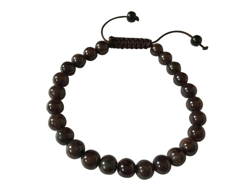 Garnet Beads Wrist Mala Yoga Bracelet