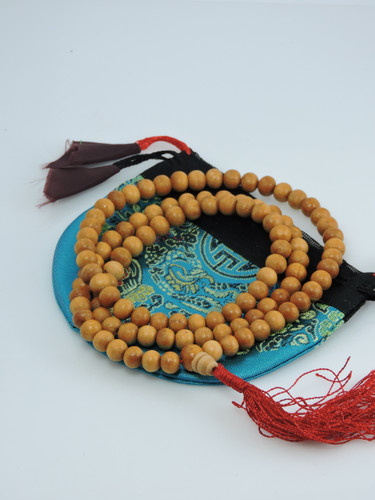 Wood Bead mala 108 beads with Tassel