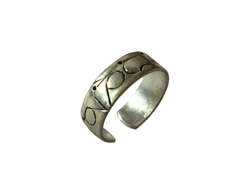 Silver Plated Buddha of Compassion ring