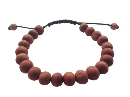 Plain Wood Bead Wrist mala Bracelet for meditation