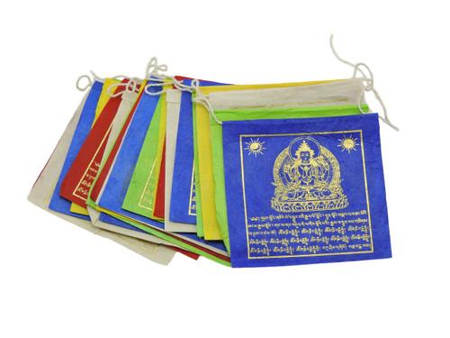 Small  Handmade Paper Buddha of Compassion  Prayer Flags
