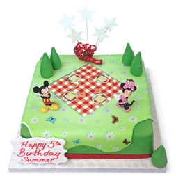 Mickey and Minnie Picnic Cake