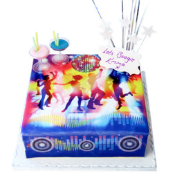 Disco Birthday Cake
