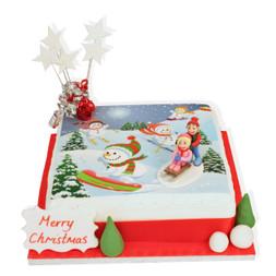 Christmas Tabogganing Cake