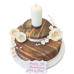 Wooden Hearts Cake