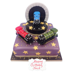 Trains Birthday Cake
