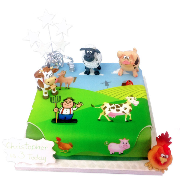 On The Farm Birthday Cake Farmyard Birthday Cakes The Brilliant