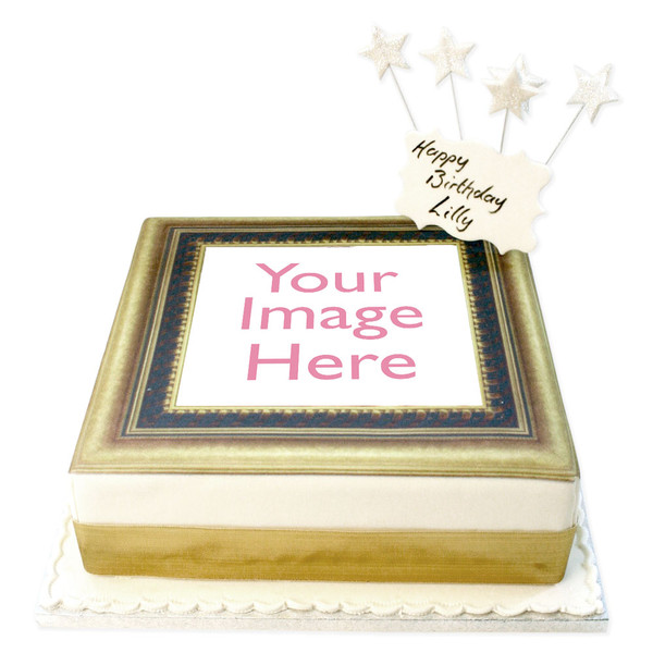 Gold Photo Frame Cake | Photo Cakes | The Brilliant Bakers