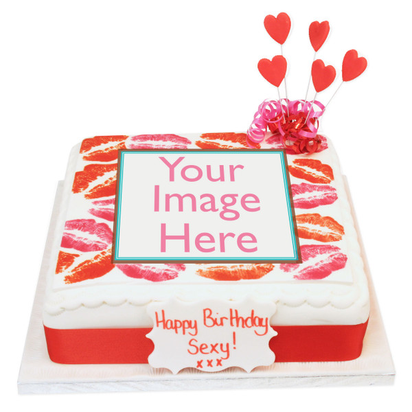 Hot Lips Photo Cake Rude Birthday Cakes The Brilliant Bakers