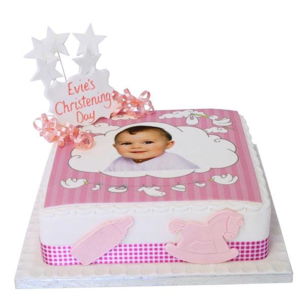 baby girl christening photo cake celebration cakes the brilliant