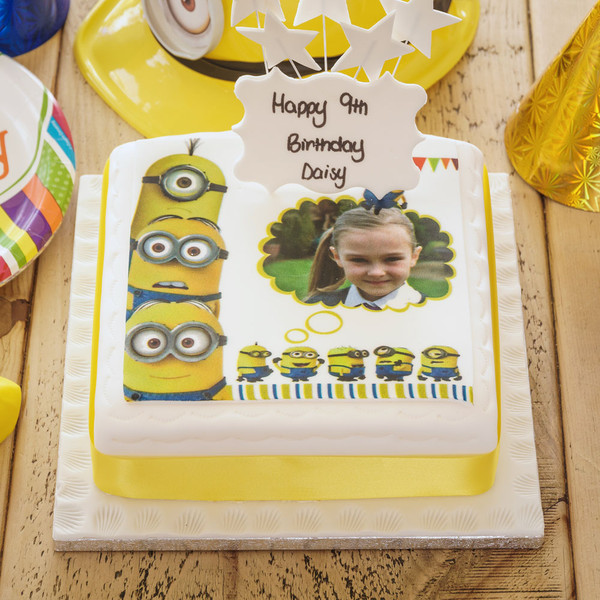 Minions Photo Cake Birthday Cakes The Brilliant Bakers