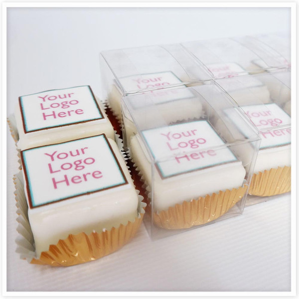 Square Mini Logo Cakes