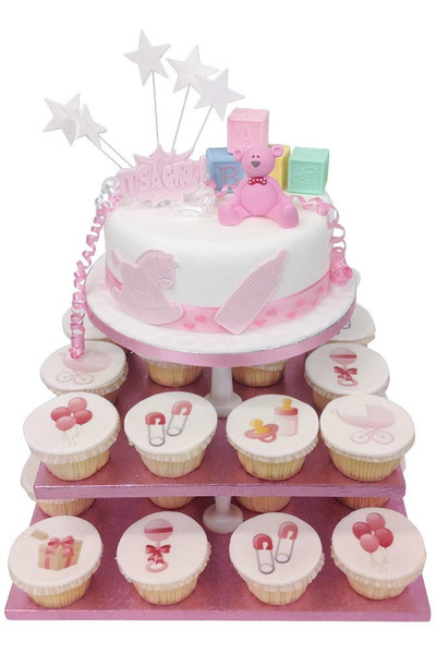 New Baby Pink Cake Tower