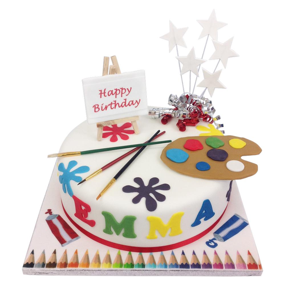 Artist Palette Cake Birthday Cakes The Brilliant Bakers