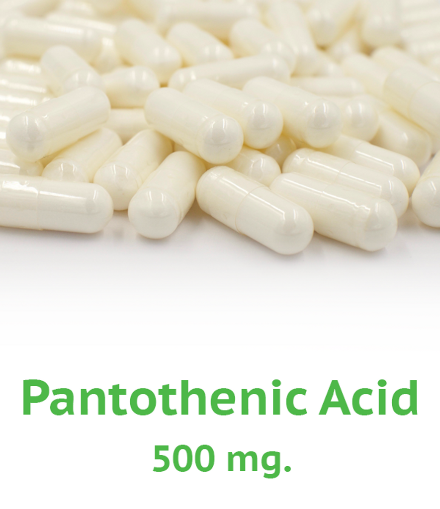 B-5 Pantothenic Acid 500 mg Capsule