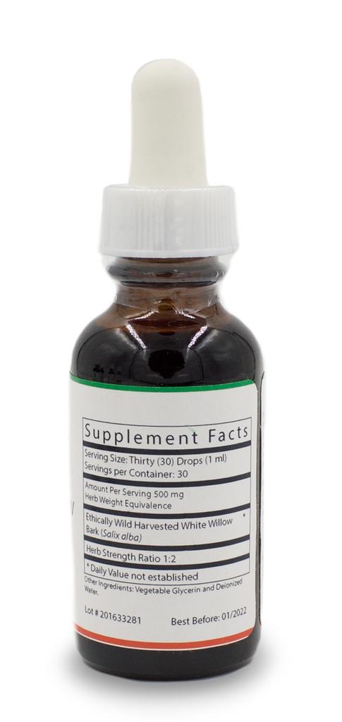 White Willow Glycerite - 1 Oz. Bottle