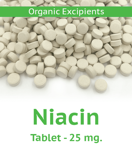 Niacin 25 mg Tablet - 100 Count Bag