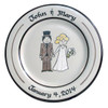 The Happy Couple Wedding Plate