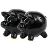 Black Pig Salt & Pepper Shakers