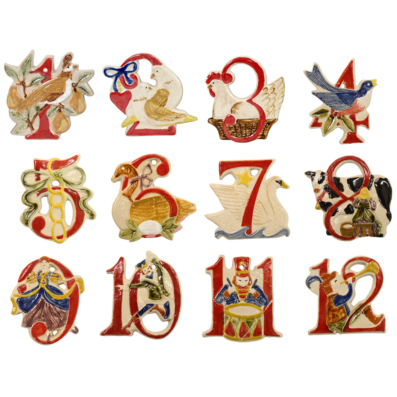 12 days of christmas stonewares 2016 release of 12 days of christmas - 12 Days Of Christmas Ornament Set