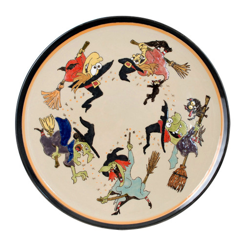 "16"" ROUND PLATTER IN WITCHES"