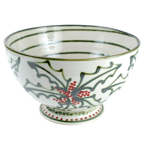 "14"" Champagne Bowl in  Holly Graffiti"